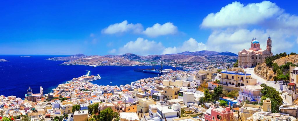 Rent a luxury catamaran to Syros